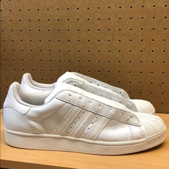 Adidas Superstar blanco shell dedos hombre  sz 105 poshmark